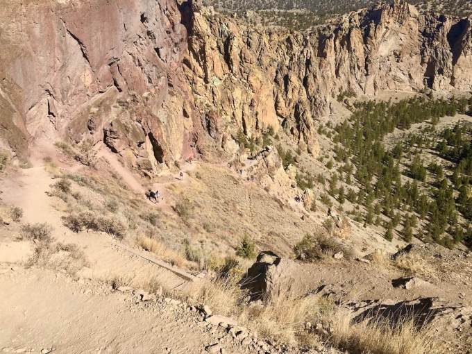 Misery Ridge Trail switchbacks in Smith Rock State Park, Oregon