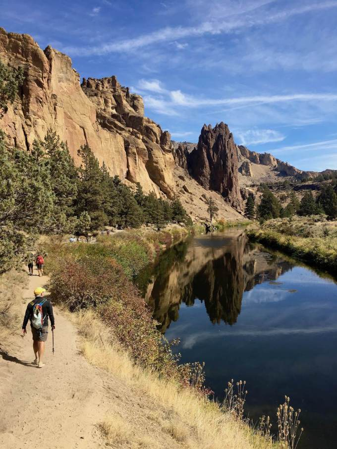River Trail along the Crooked River in Oregon's Smith Rock State Park