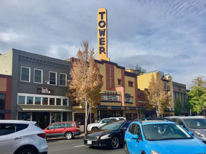 Historic Tower Theatre in downtown Bend, Oregon