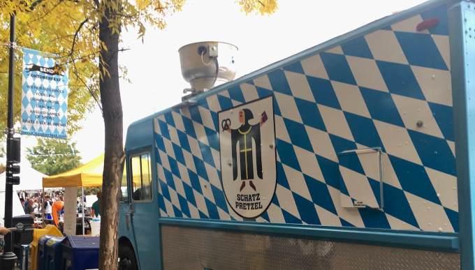 Schatz Pretzel food truck at Bend Oregon Oktoberfest