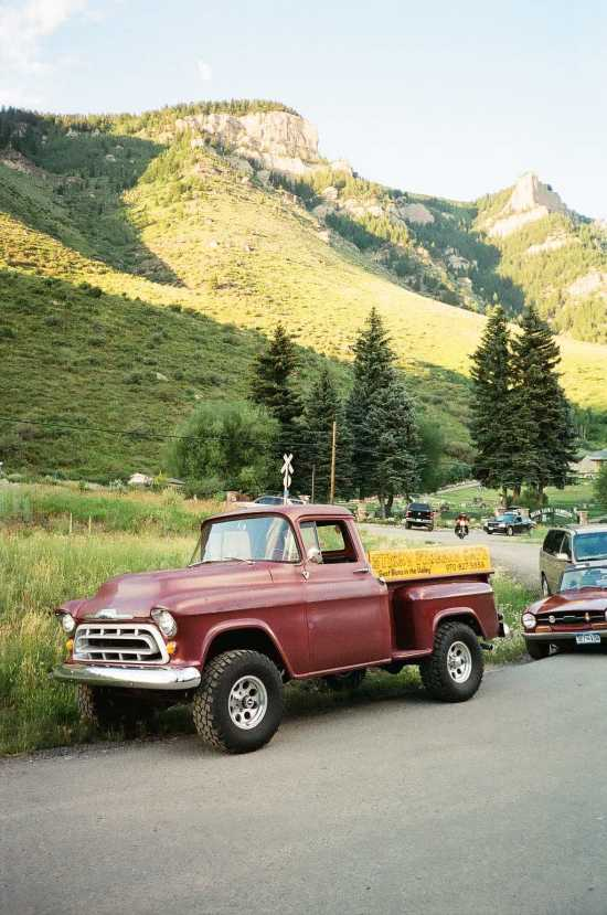 35mm photograph of classic truck in Minturn, Colorado