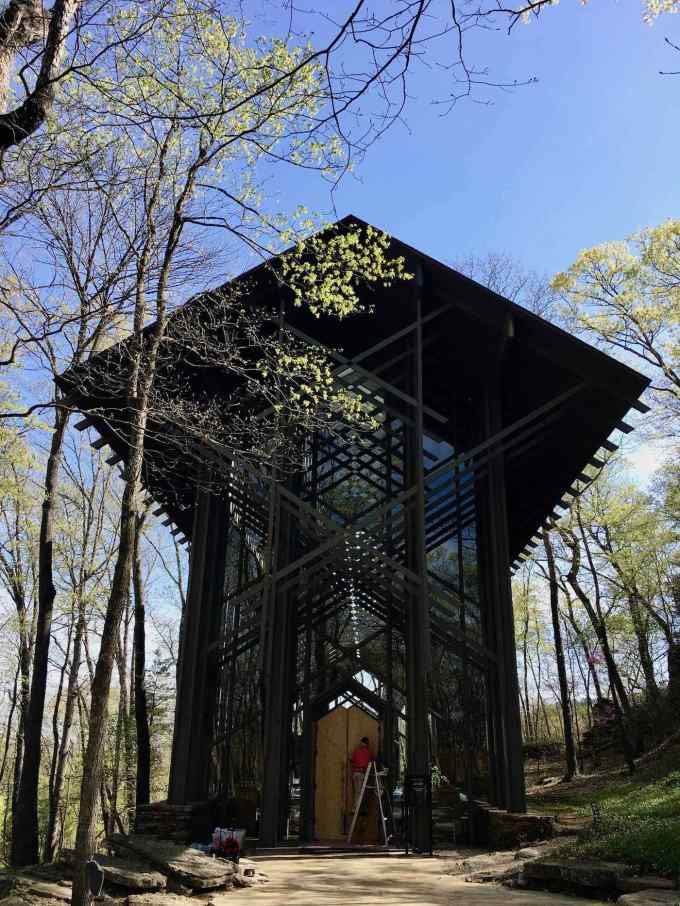 E. Fay Jones designed Thorncrown Chapel in Eureka Springs, Arkansas