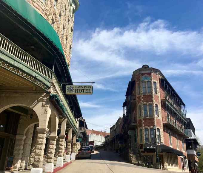 Historic Basin Park Hotel in downtown Eureka Springs, Arkansas