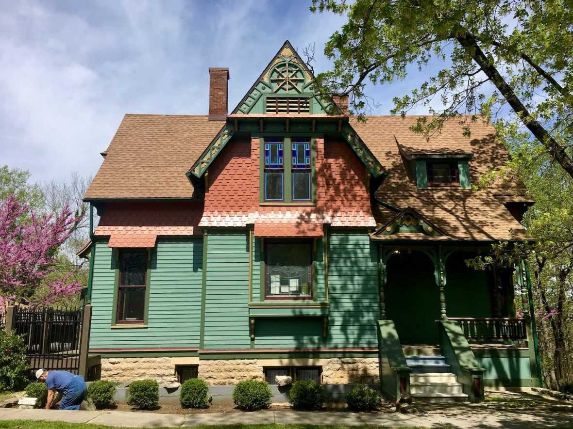 Victorian gingerbread house in Eureka Springs, Arkansas