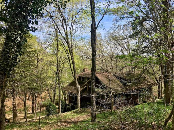 Craftsman home in the woods near the Crescent Hotel in Eureka Springs, Arkansas