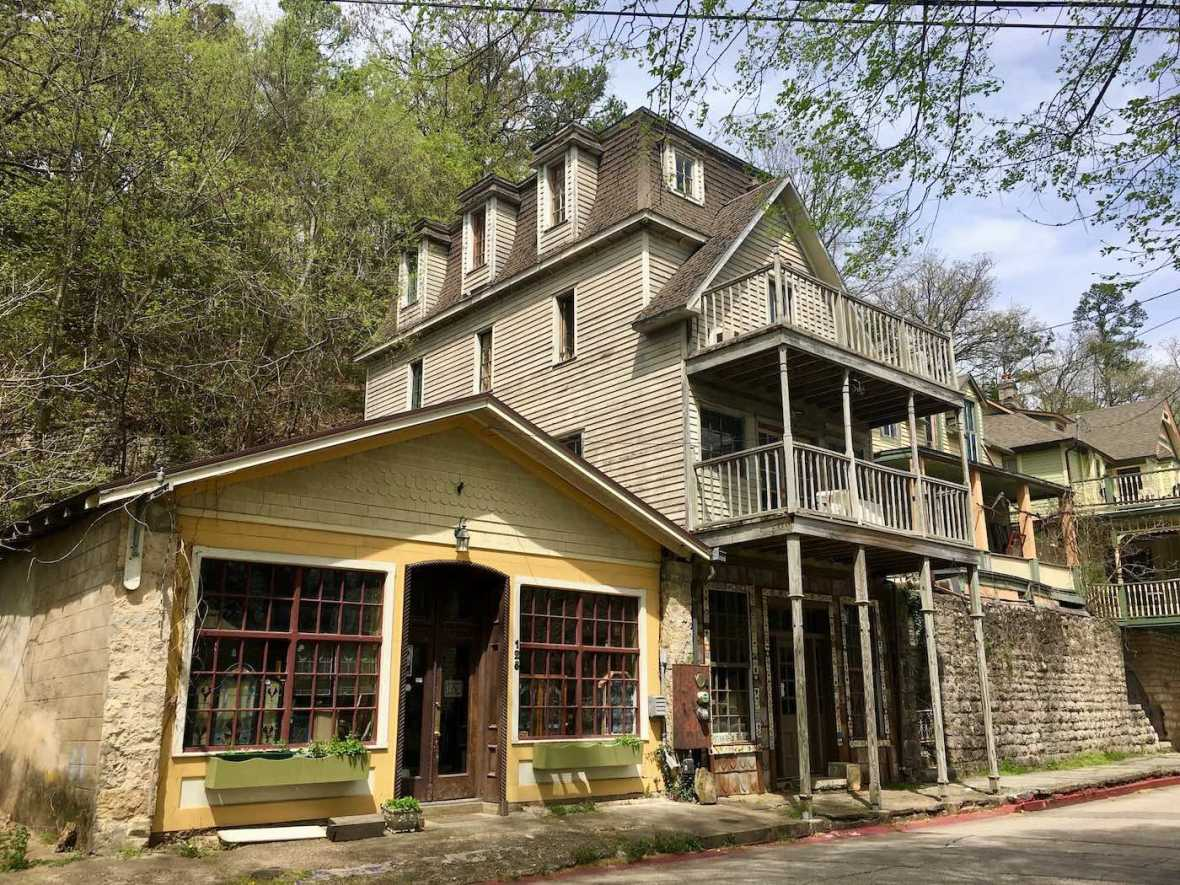 Historic home and antique store in Eureka Springs, Arkansas