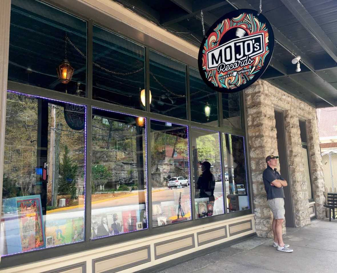 Mo Jo's Record store in Eureka Springs, Arkansas