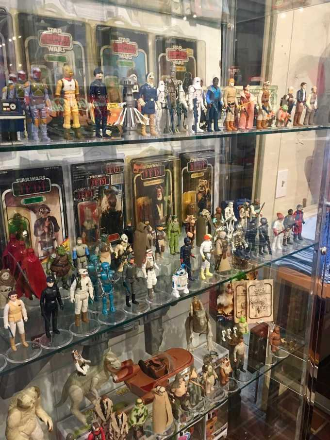 Star Wars collection at Tee Rex vintage toy store in downtown Eureka Springs, Arkansas