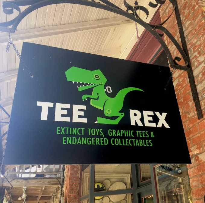 Tee Rex vintage toys in downtown Eureka Springs, Arkansas