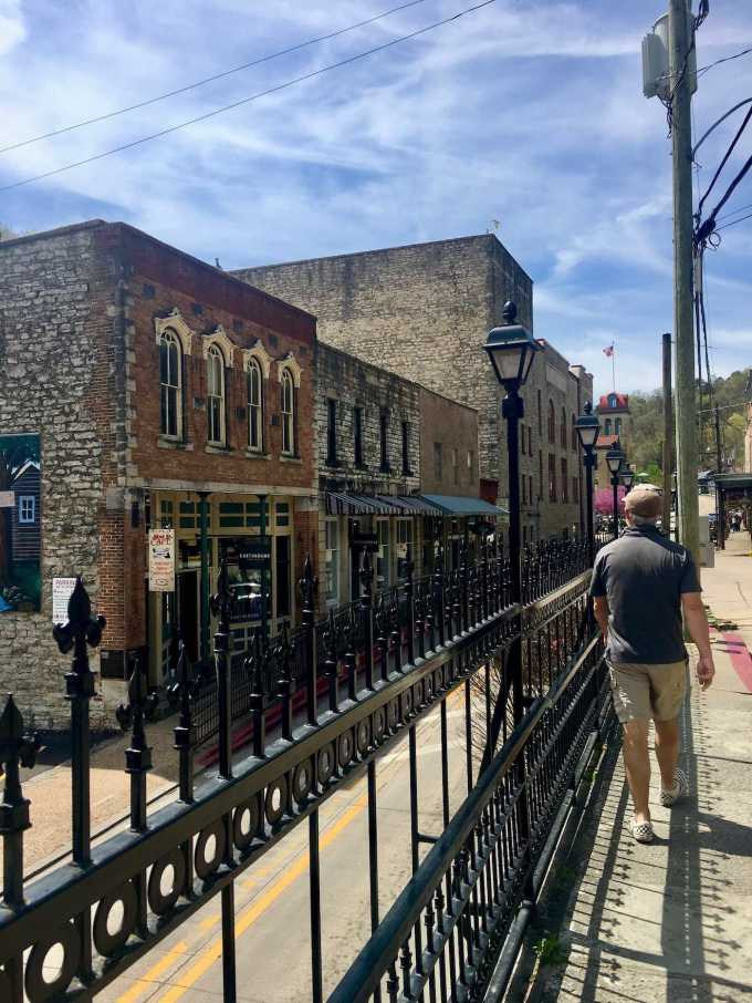 Historic downtown Eureka Springs, Arkansas