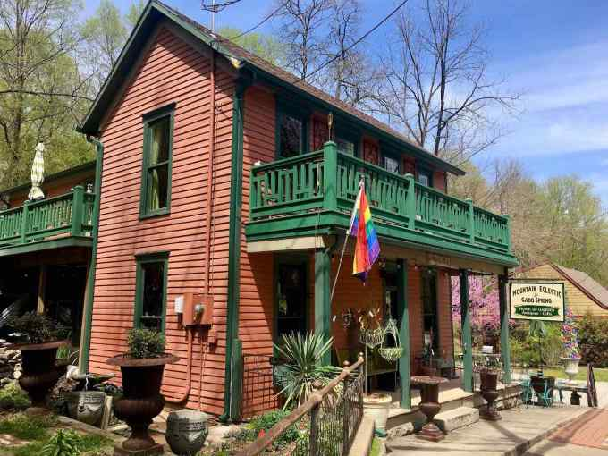 Mountain Eclectic at Gadd Spring Antique and Gift store in Eureka Springs, Arkansas