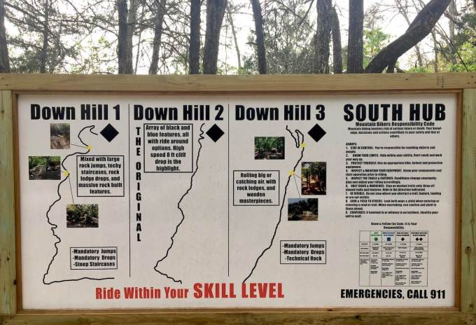 Lake Leatherwood Mountain Bike trail guide in Eureka Springs, Arkansas