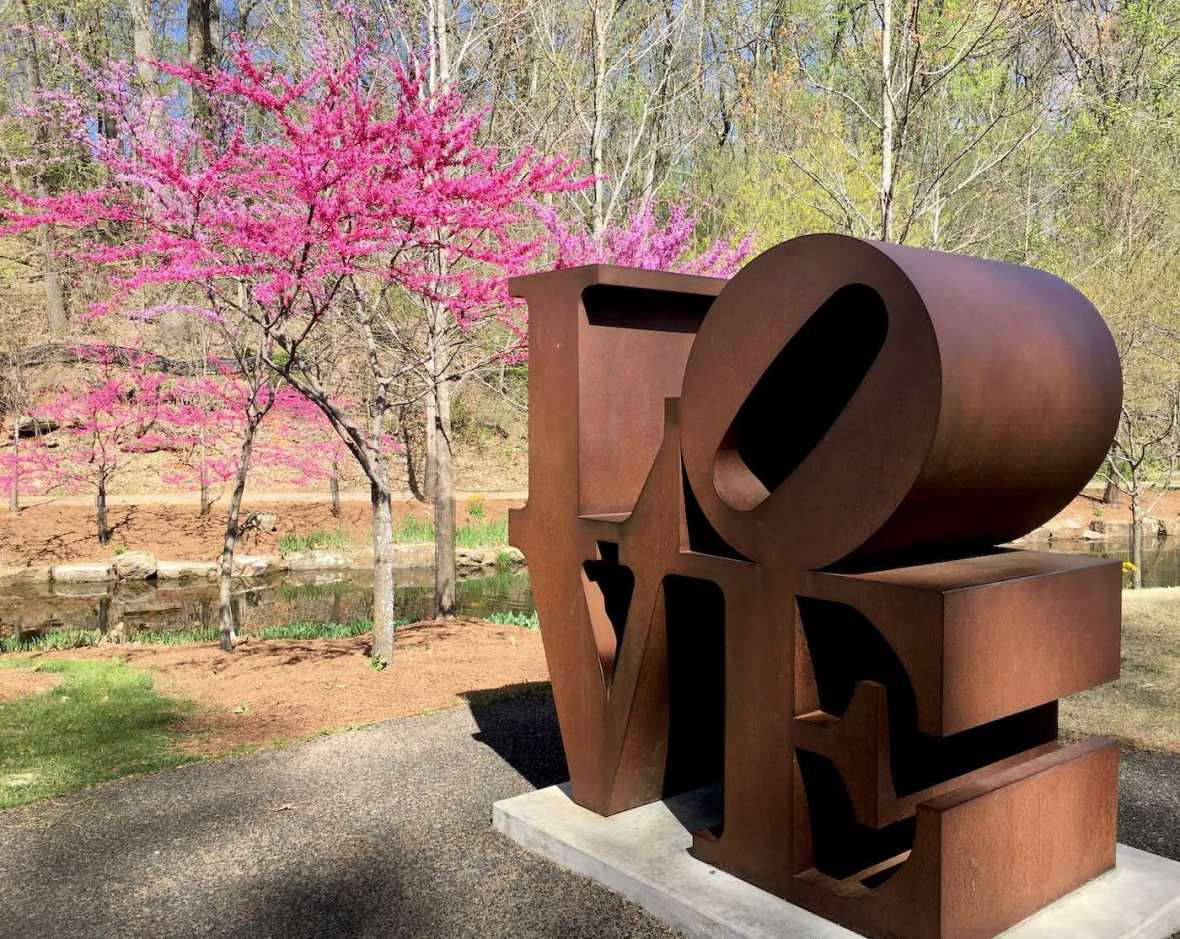 Robert Indiana Love Sculpture at Crystal Bridges Museum of American Art