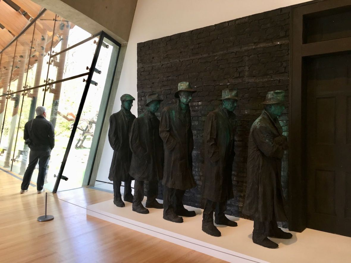 Depression Bread Line by George Segal at Crystal Bridges Museum in Bentonville, Arkansas