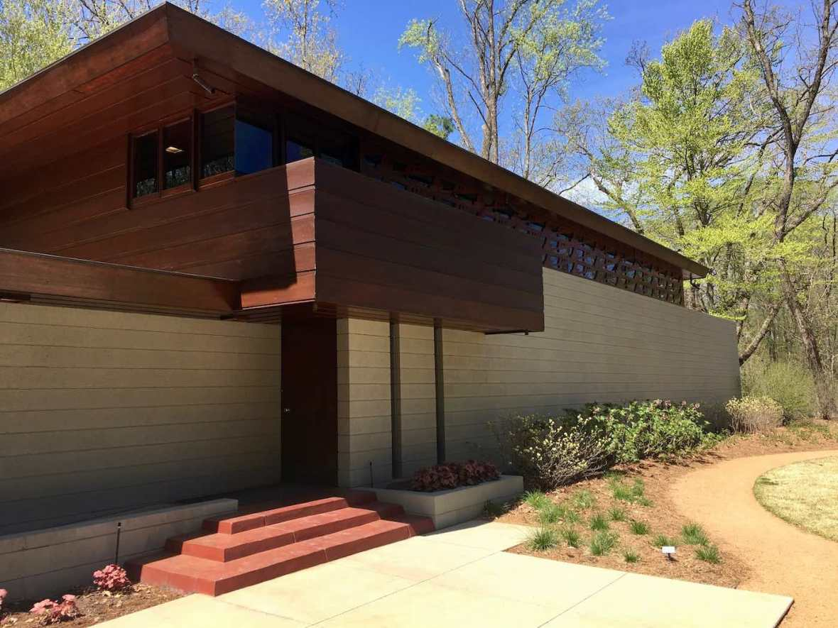 Frank Lloyd Wright designed Bachman-Wilson House at Crystal Bridges Museum of American Art