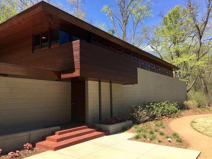 Frank Lloyd Wright designed Bachman-Wilson House at Crystal Bridges Museum of American Art