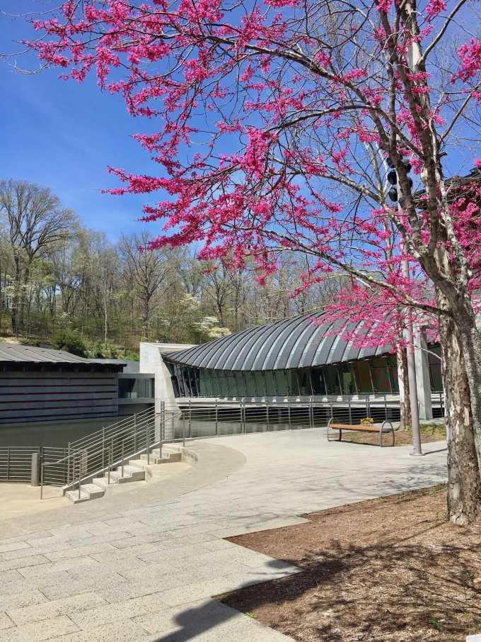 Moshe Safdie-designed Crystal Bridges Museum of American Art in Bentonville, Arkansas