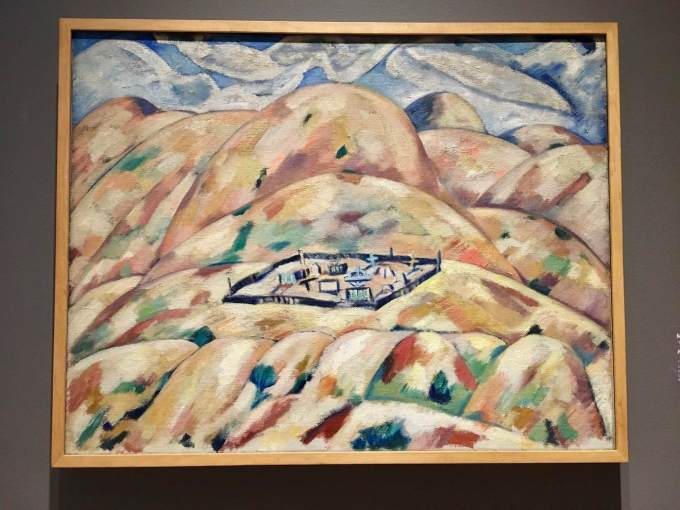 Marsden Hartley's painting New Mexico No.2 at Crystal Bridges Museum of American Art