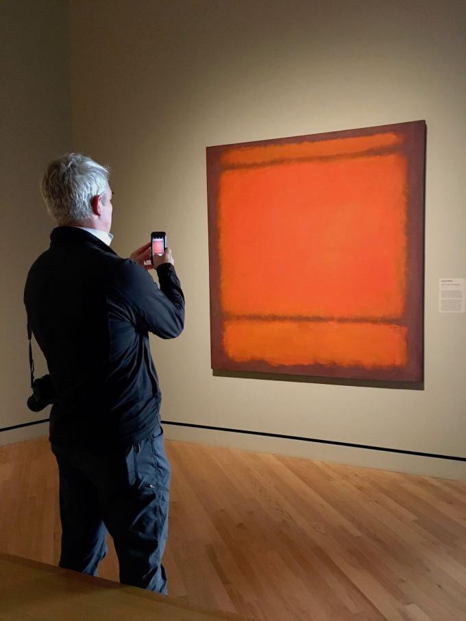 No. 210/No. 211 (Orange) painting by Mark Rothko at Crystal Bridges Museum of American Art