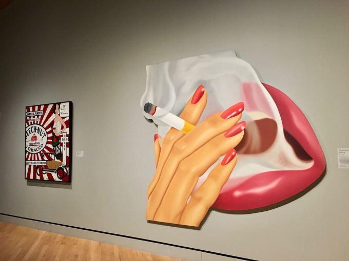 Smoker #9 painting by Tom Wesselmann at Crystal Bridges Museum in Bentonville, Arkansas