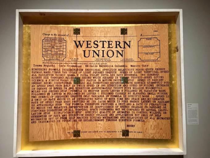 Telegram by Tom Sachs at Crystal Bridges Museum of American Art