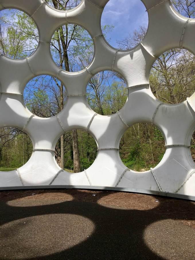 Buckminster Fuller's Fly's Eye Dome at Crystal Bridges Museum of American Art in Bentonville, Arkansas