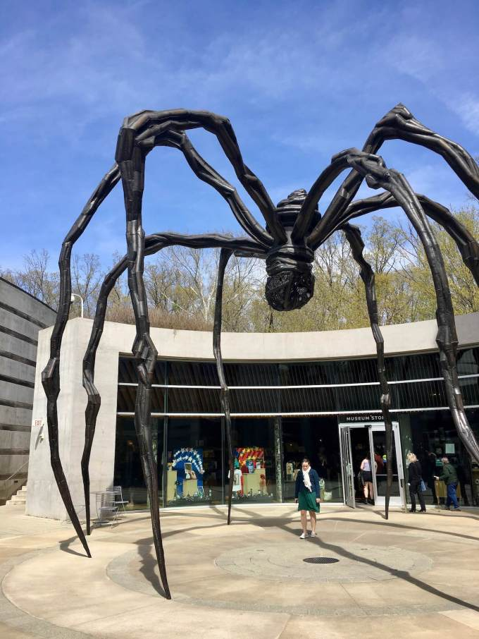 Maman Spider Sculpture by Louise Bourgeouis at Crystal Bridges Museum of American Art in Bentonville, Arkansas