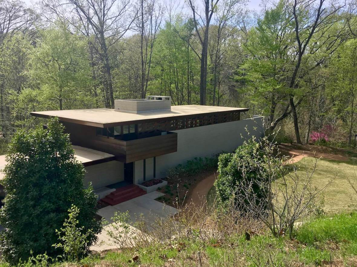 Frank Lloyd Wright's Bachman-Wilson House at Crystal Bridges Museum in Bentonville, Arkansas