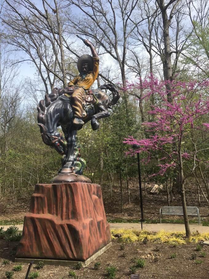 Vaquero sculpture by Luis Jimenez at Crystal Bridges Museum of American Art in Bentonville, Arkansas