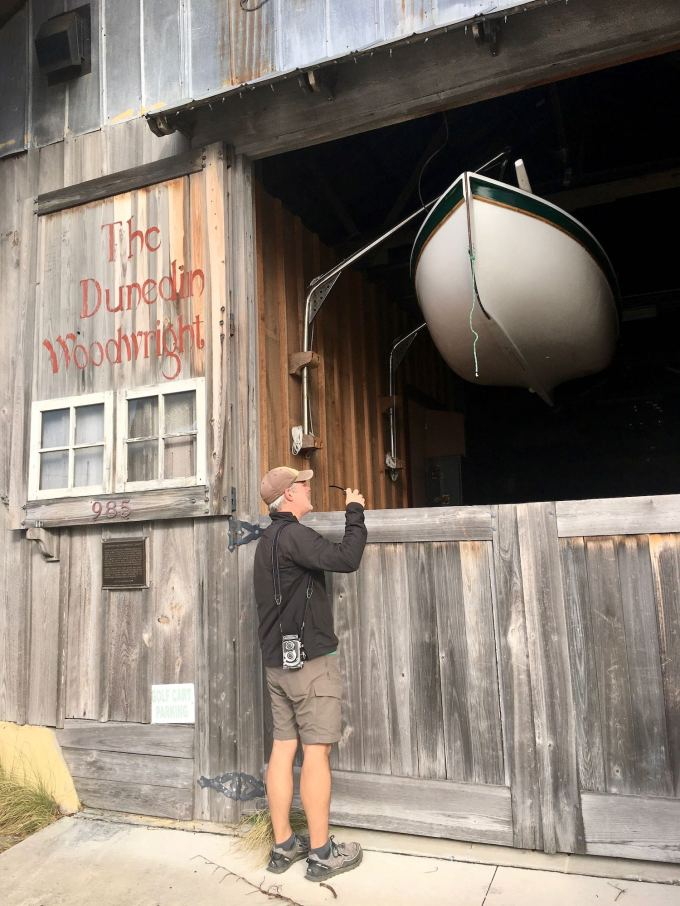The Woodwright Brewing Company and Dunedin Woodright - Clark Mills old boat shop in Florida