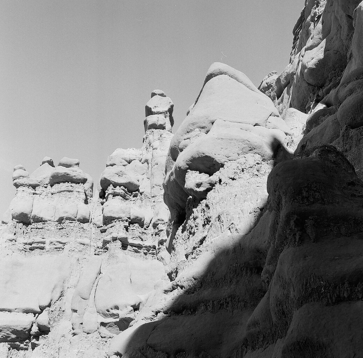 Medium format 120 mm monochrome film photography Goblin Valley Utah state park