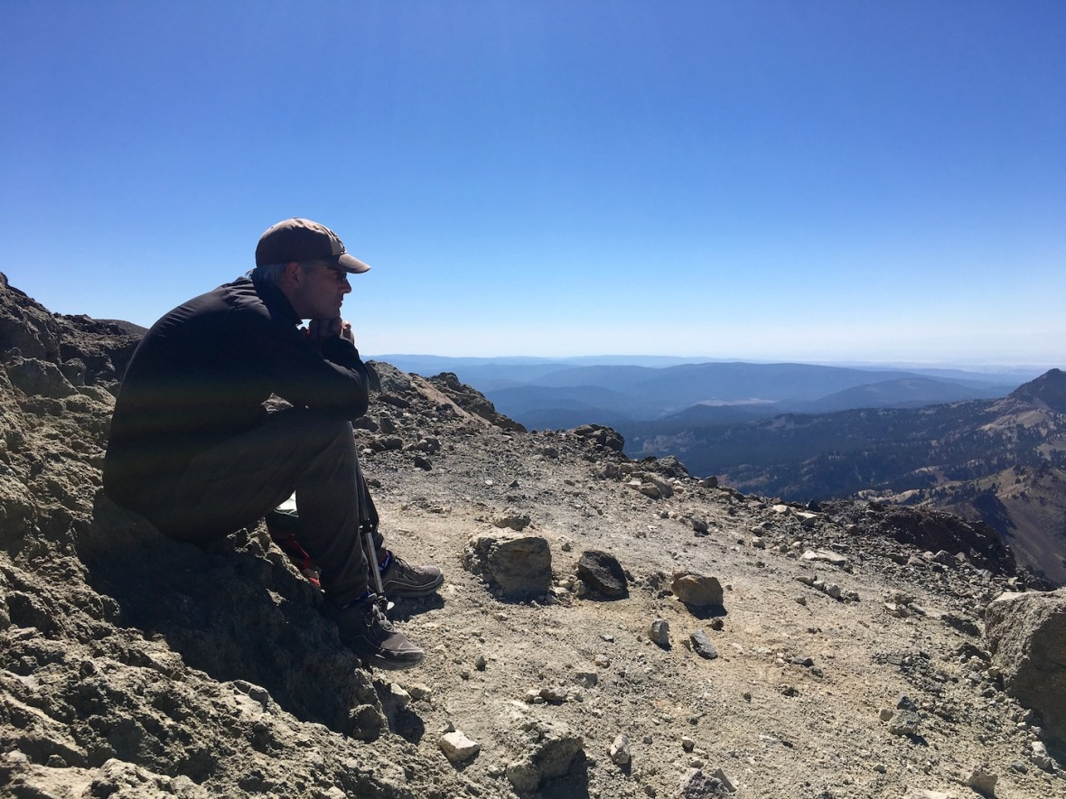 View from rim of the Lassen Peak caldera in Lassen Volcanic National Park