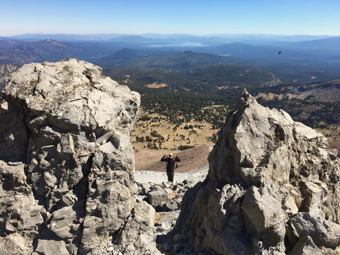 Hiking the Lassen Peak trail in Lassen Volcanic National Park