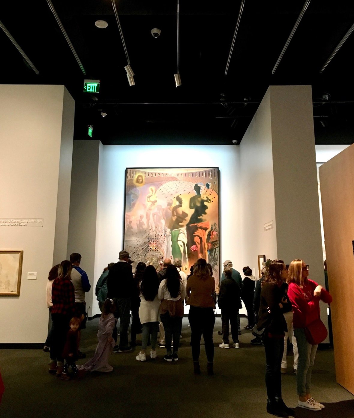 The Hallucinogenic Toreador painting at the Dali Museum in downtown St. Petersburg, Florida