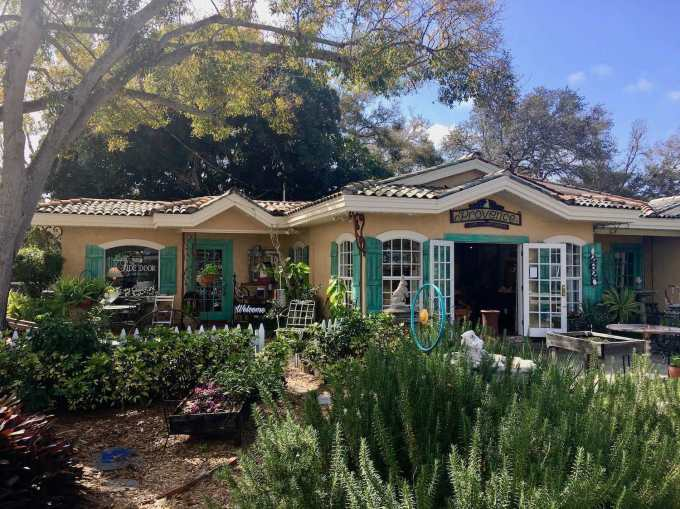 Gardens at Provence Art and Antiques in Belleair Florida near St. Petersburg