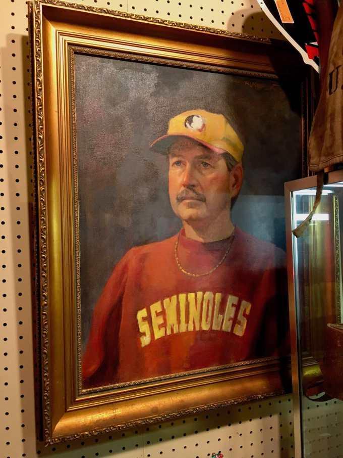 Only-in-Florida: Football Seminole fan fine art.