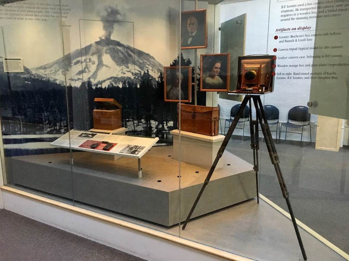 B.F. Loomis Photography Equipment at Loomis Museum in Lassen Volcanic National Park