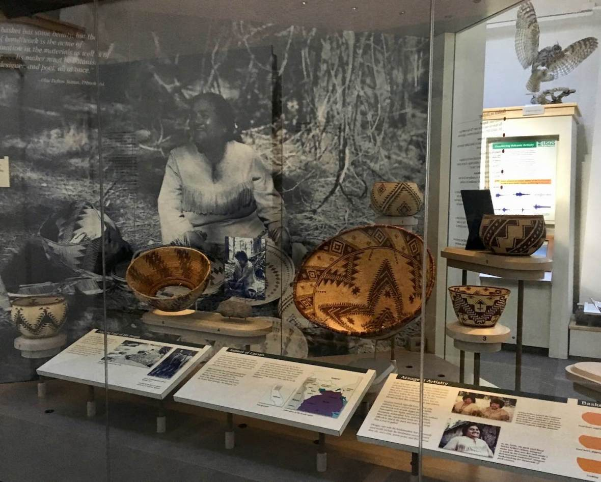 Native American baskets at Loomis Museum in Lassen Volcanic National Park