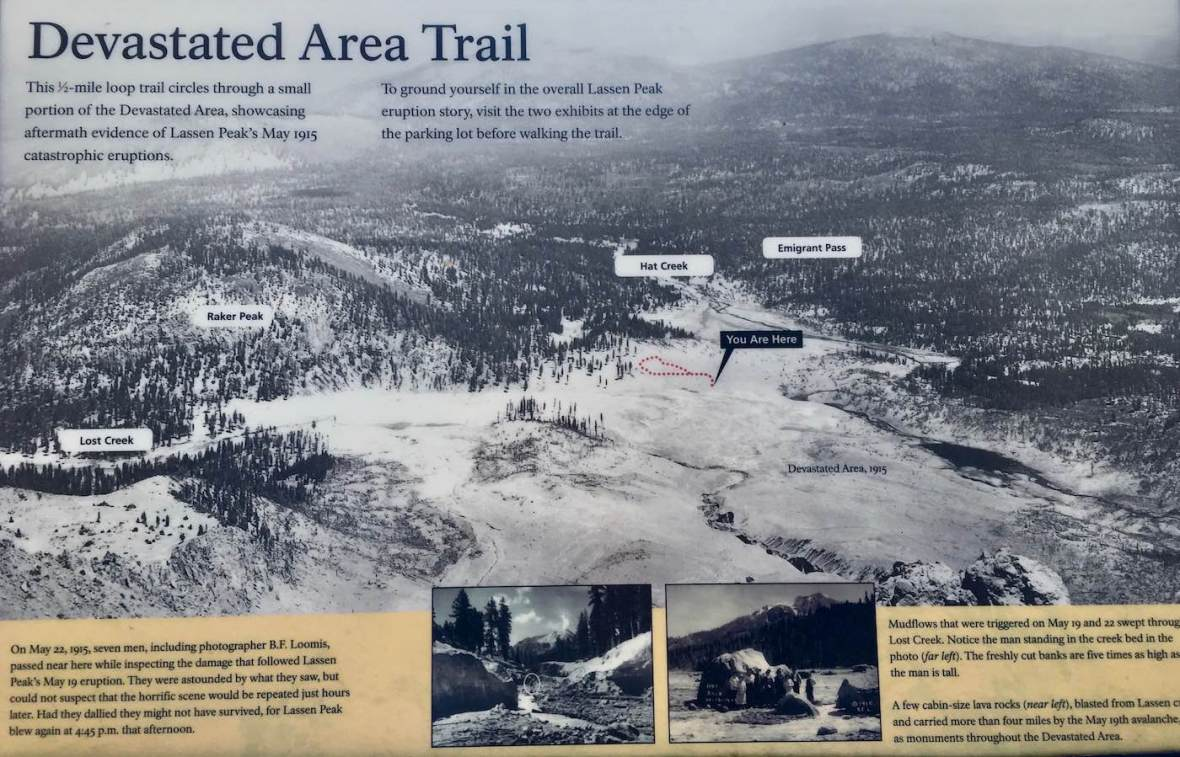 1915 Photograph of Devastated Area in Lassen Volcanic National Park