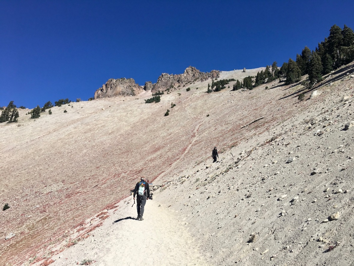 Setting off on the Lassen Peak trail in Lassen Volcanic National Park