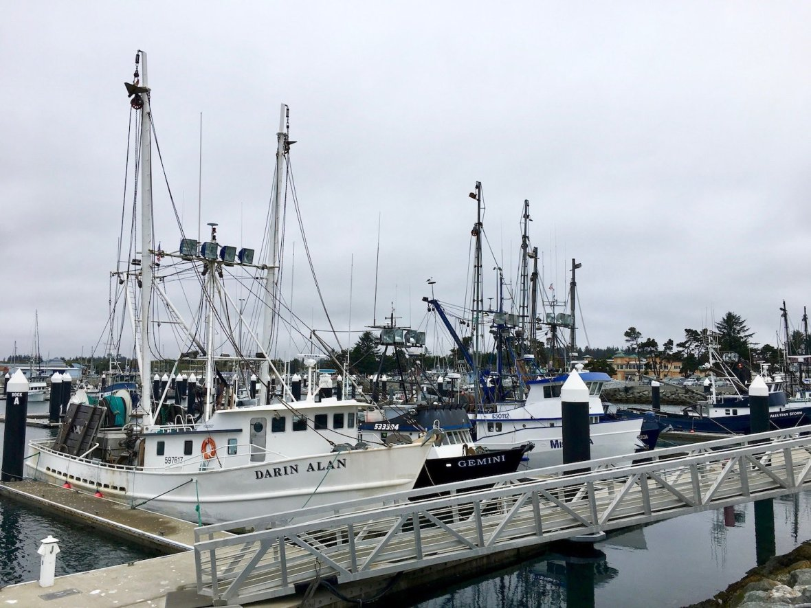 Fishing Boats in Crescent City, California harbor