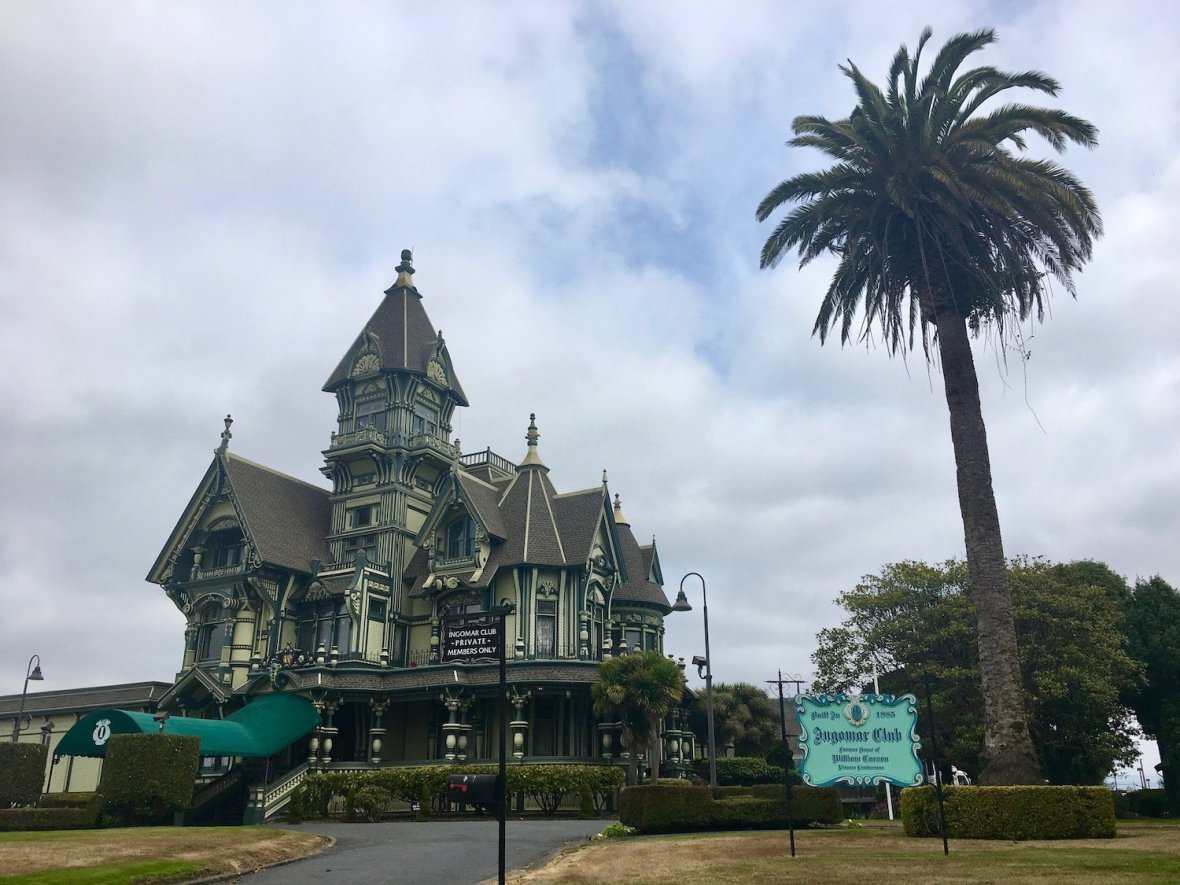 The Ingomar Club Mansion Victorian Architecture in Eureka, California