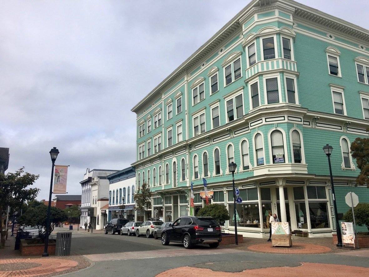 Historic Victorian era downtown Eureka California