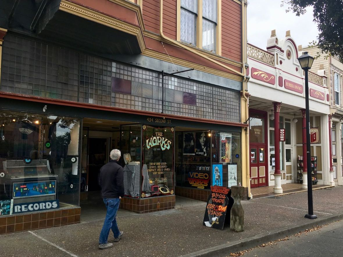 The Works record store in Old Town Eureka California