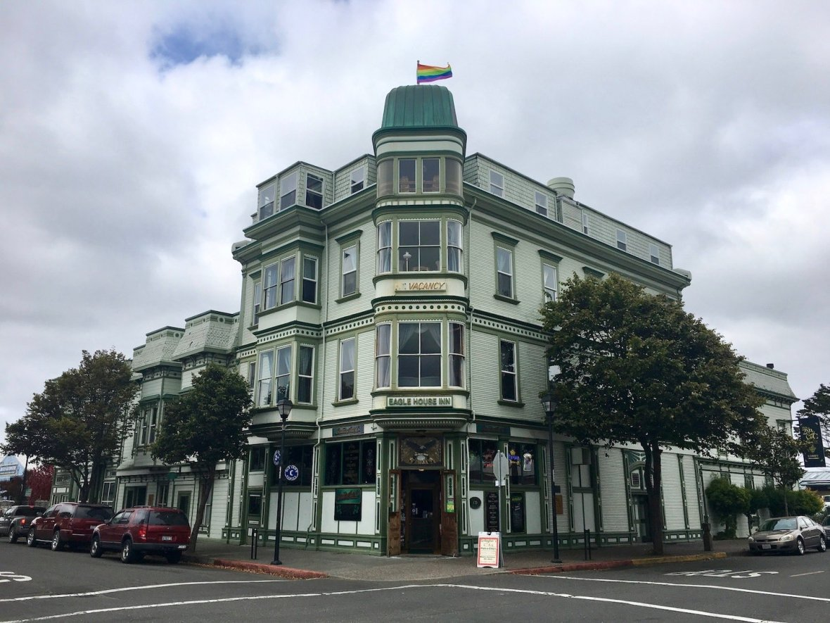 Pride at Eagle House Inn, historic downtown Eureka California