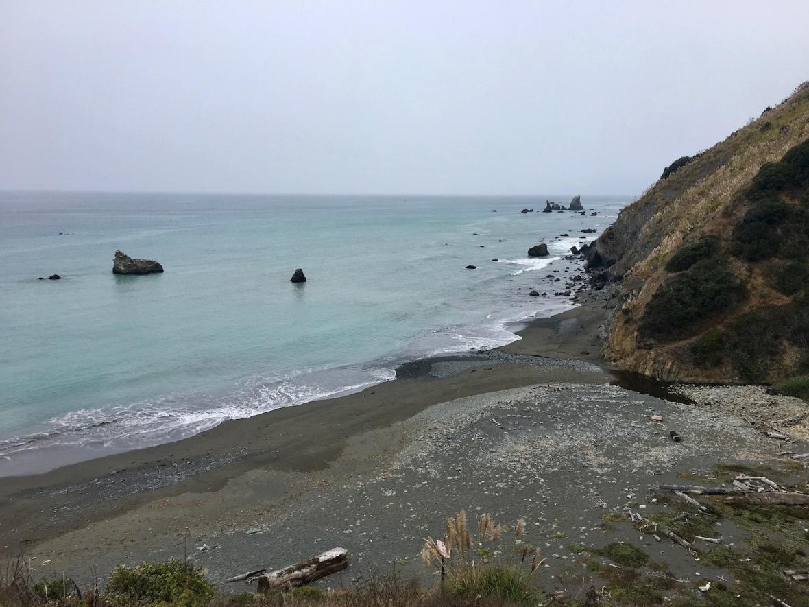 Beach off Pacific Coast Highway 1