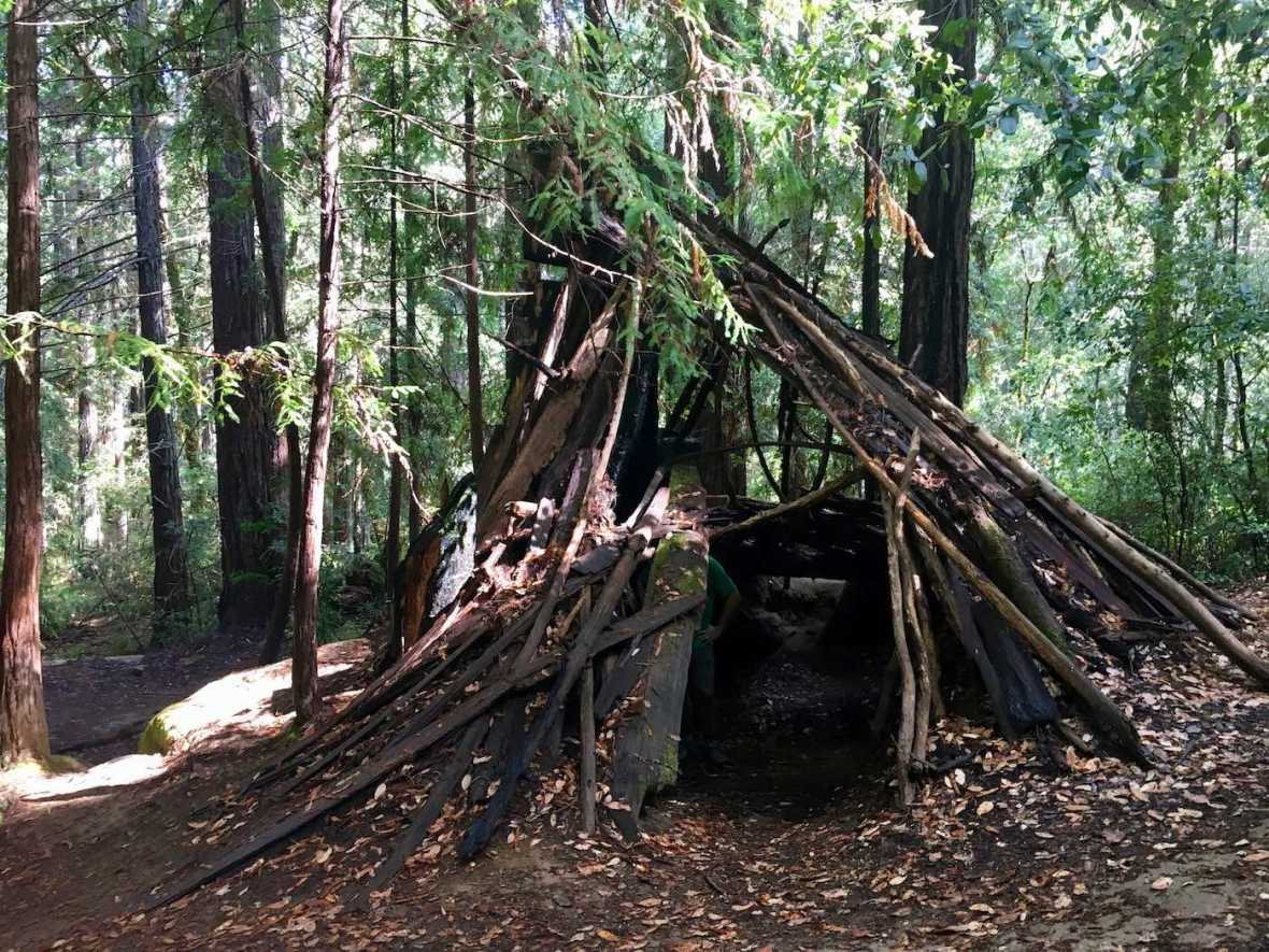 Hermit Hut in California's Hendy Woods State Park