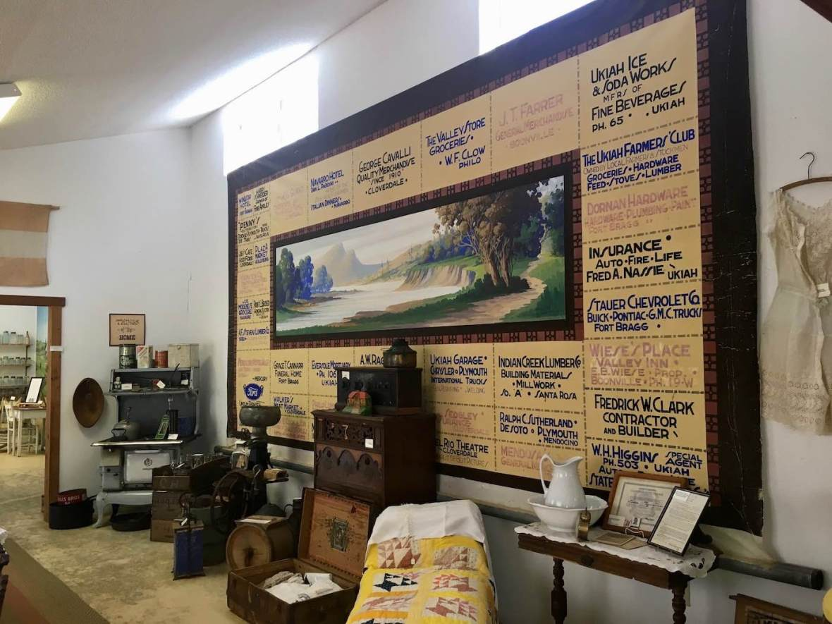 Exhibit at the Anderson Valley Historical Society museum in Boonville, California