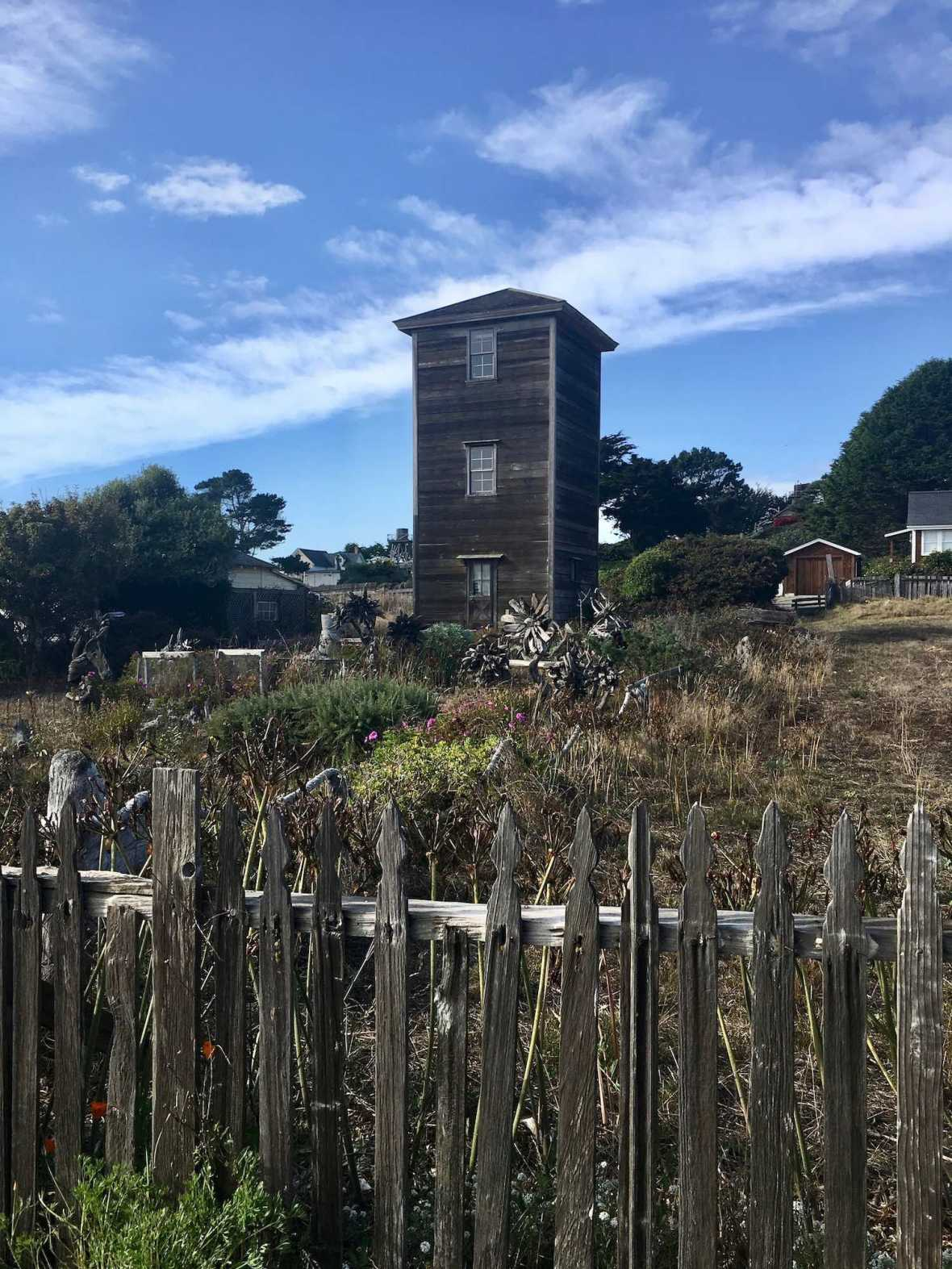 Three story tower home in Mendocino, California