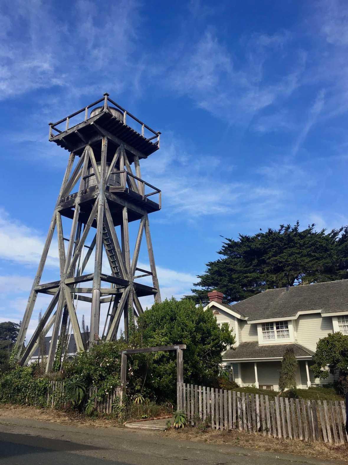 Water tower in Mendocino, California